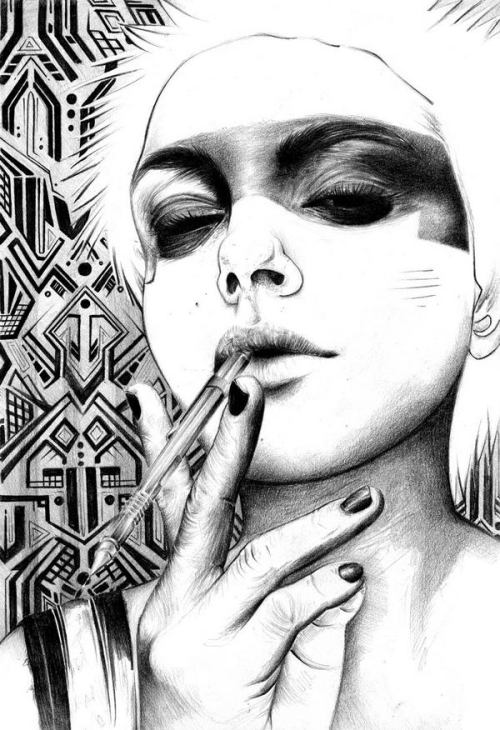Pencil-Illustrations-by-T.S.-Abe