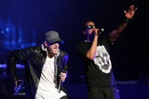 "Jay-Z And Eminem Perform And Launch ""DJ Hero"" - Show"
