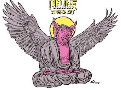 "Stones Cry ""Flying Buddha Pig"" T-Shirt"