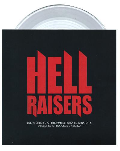 """Hellraisers"" by DMC, Chuck D, PMD, MC Serch, Terminator X, DJ Eclipse & Big KO"