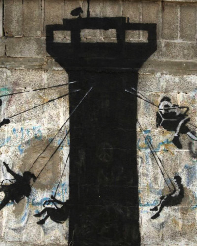 BANKSY SHARES FROM GAZA