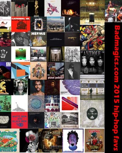 BADMAGICS 2015 favorite 50 hip-hop albums